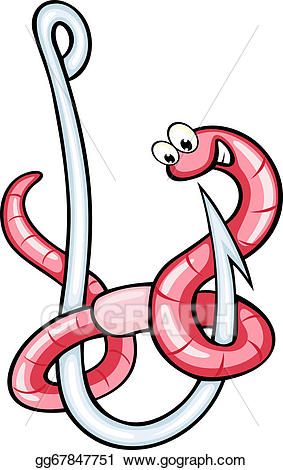 Worm clipart warm. Vector art funny on