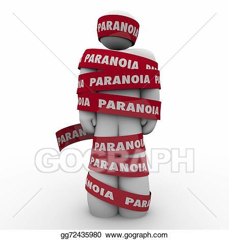 Stock illustration paranoia word. Worry clipart academic stress