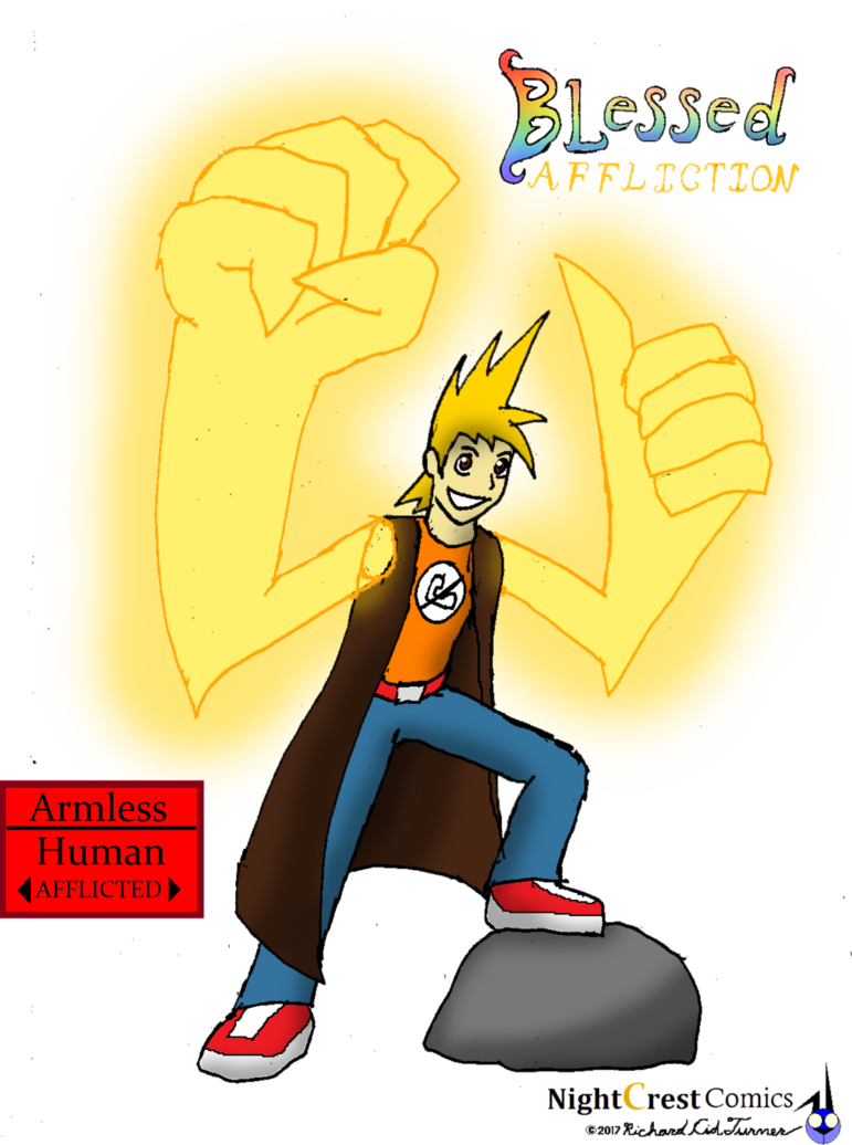 Worry clipart afflicted. Armless by nightcrestcomics on