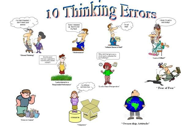 Errors for kids counseling. Worry clipart cognitive thinking