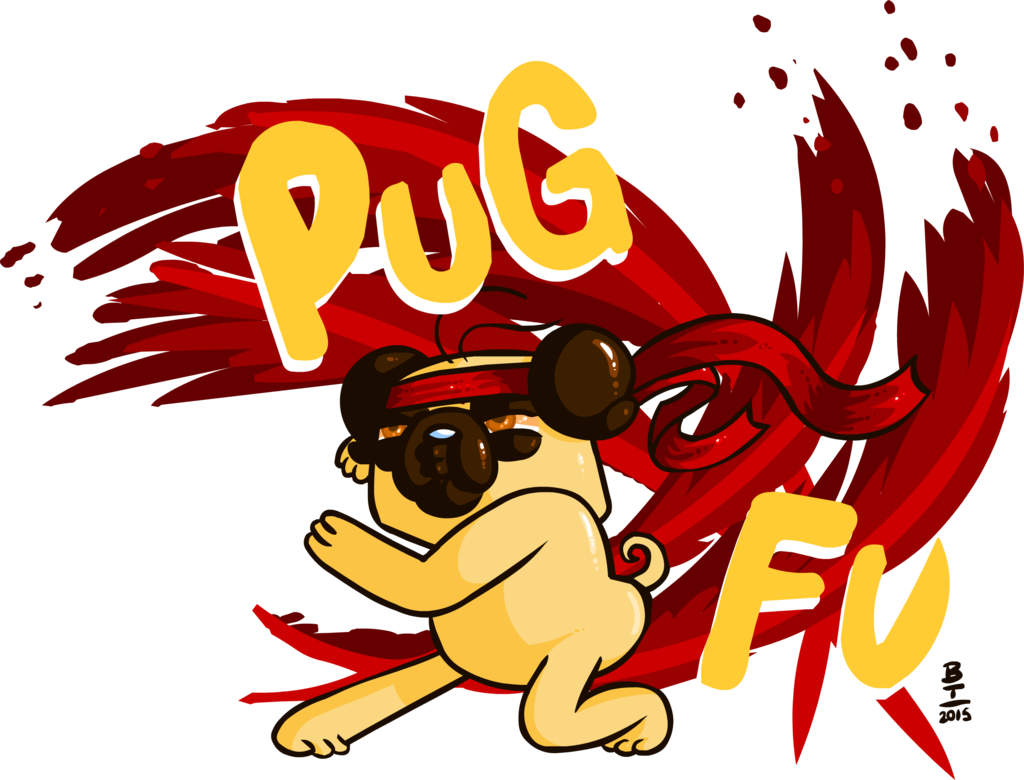 Worry clipart excruciating. Pug fu by wazzaldorp