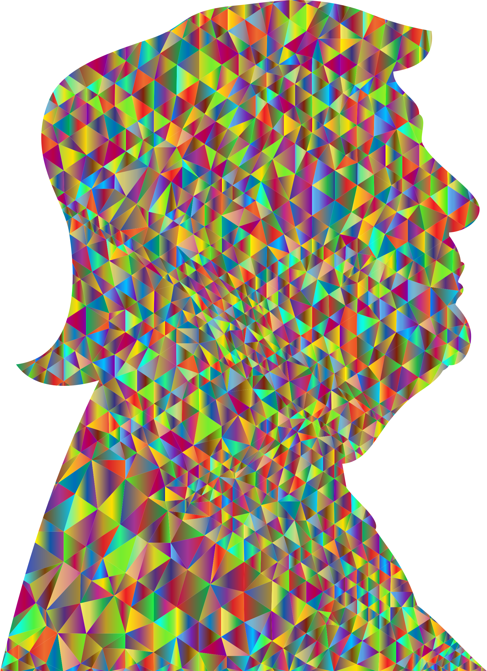 Polychromatic poly trump profile. Worry clipart low