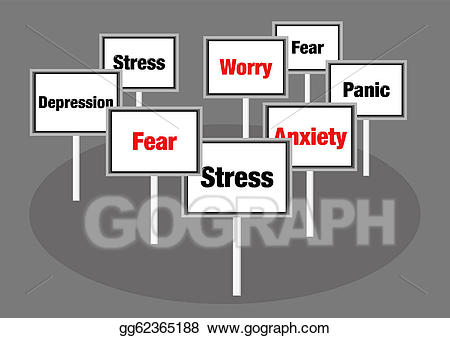 Worry clipart mental stress. Stock illustration and anxiety