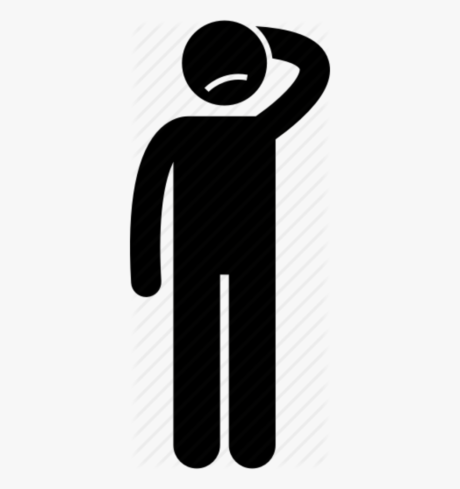 Anxiety paranoid worrying icon. Worry clipart paranoia