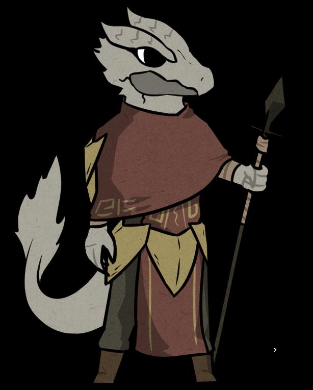 Worry clipart preoccupied. Oc my dragonborn spearman