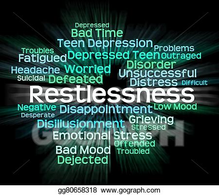 Worry clipart restlessness. Stock illustrations word means