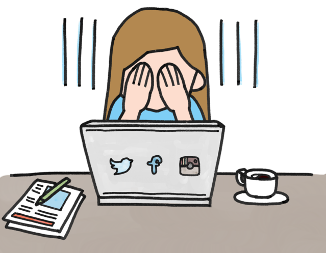 Worry clipart shyness. Social media fosters insecurity