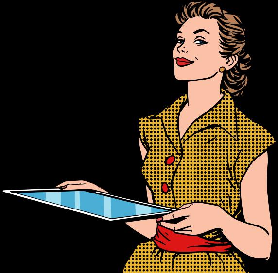 Worry clipart smart lady. E commerce wordpress website