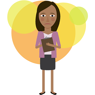 Worry clipart stressed female student. Picture