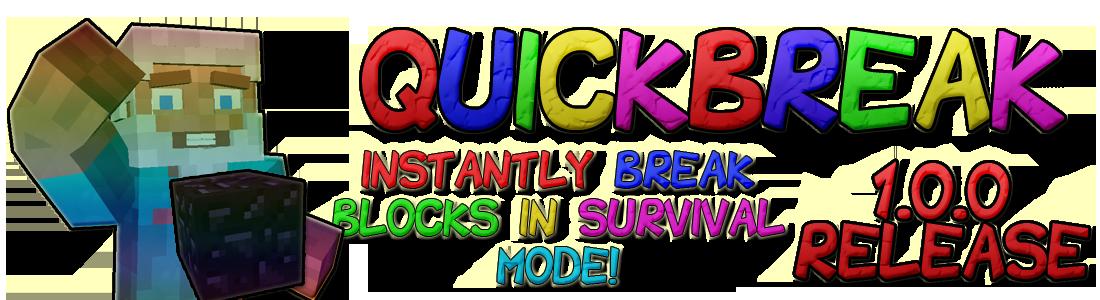 Overview quickbreak bukkit plugins. Worry clipart survival item