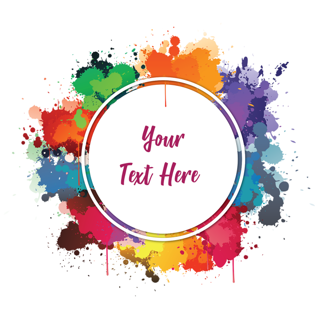 Worry clipart text. Colourful watercolor ink splashes
