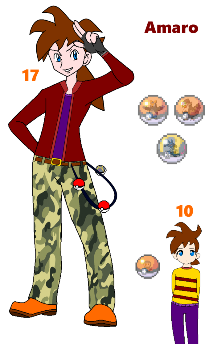 Worry clipart unconfident. Pokemon trainer amaro by
