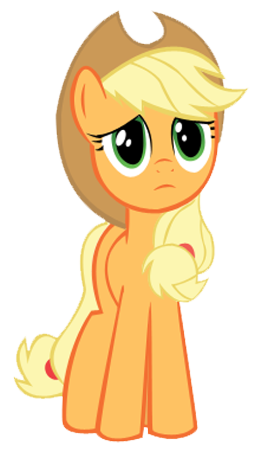 Applejack is worried about. Worry clipart uneasy