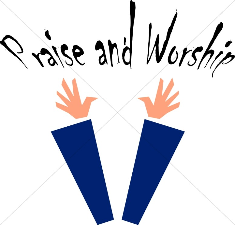 Praise and image word. Worship clipart