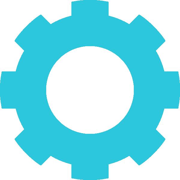Blue cog clip art. Twitter png transparent background