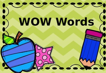 Words by literacy with. Wow clipart encouraging word