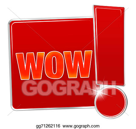 Wow clipart exclamatory. Stock illustration red icon