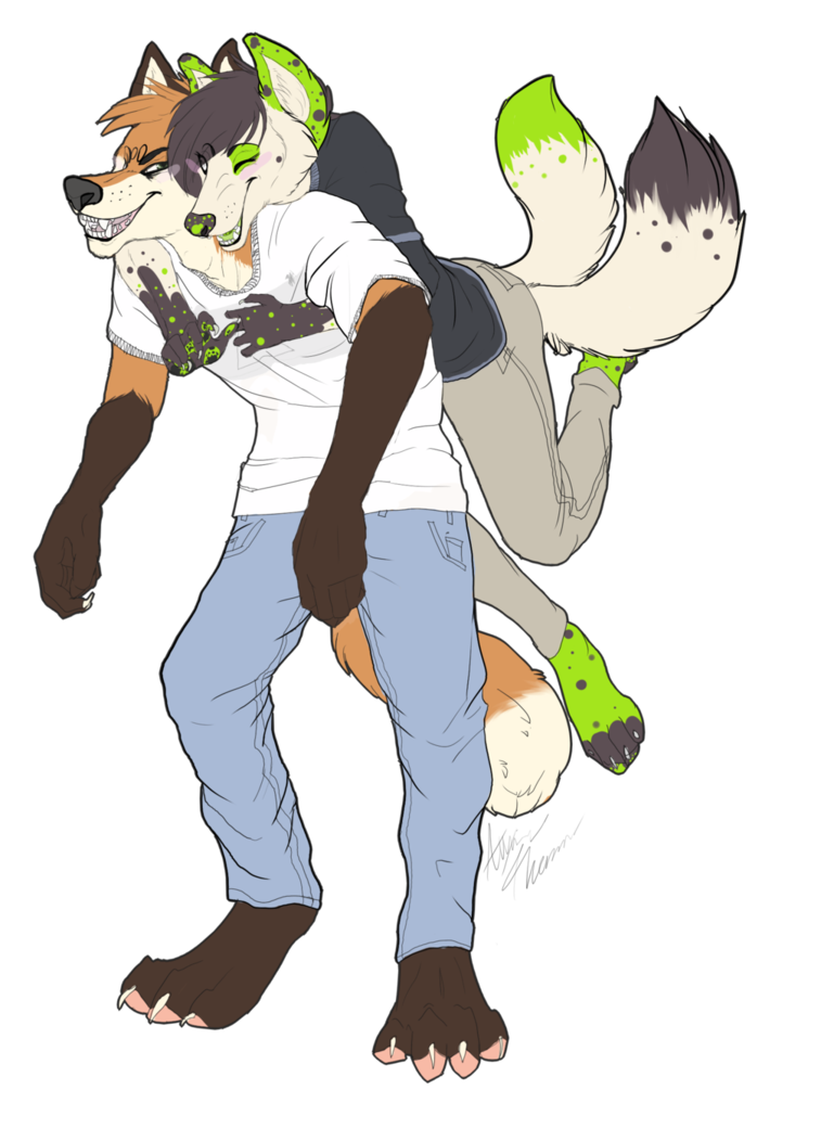 Surprise hug attack commission. Wow clipart happy surprised person