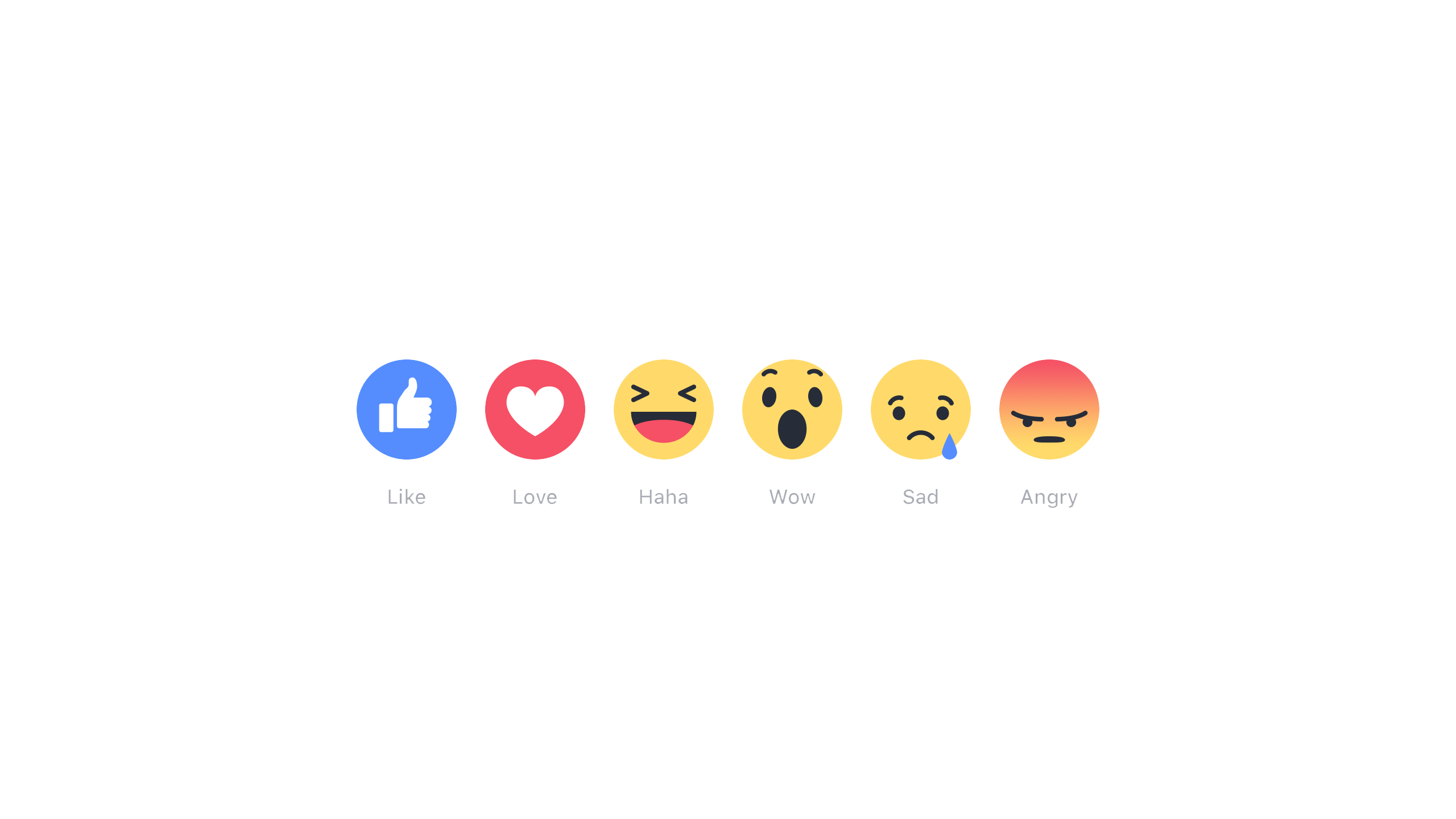 Facebook reactions graphics png. Wow clipart like