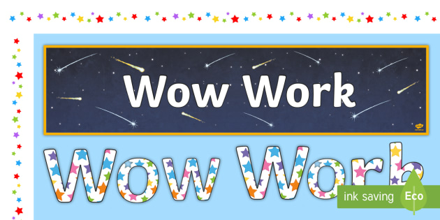 Wow clipart positive learning. Work display pack materials