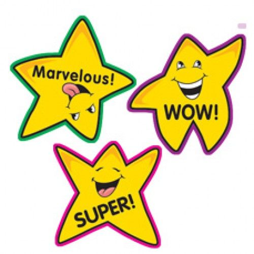 Stickers fun shape gold. Wow clipart positive teacher