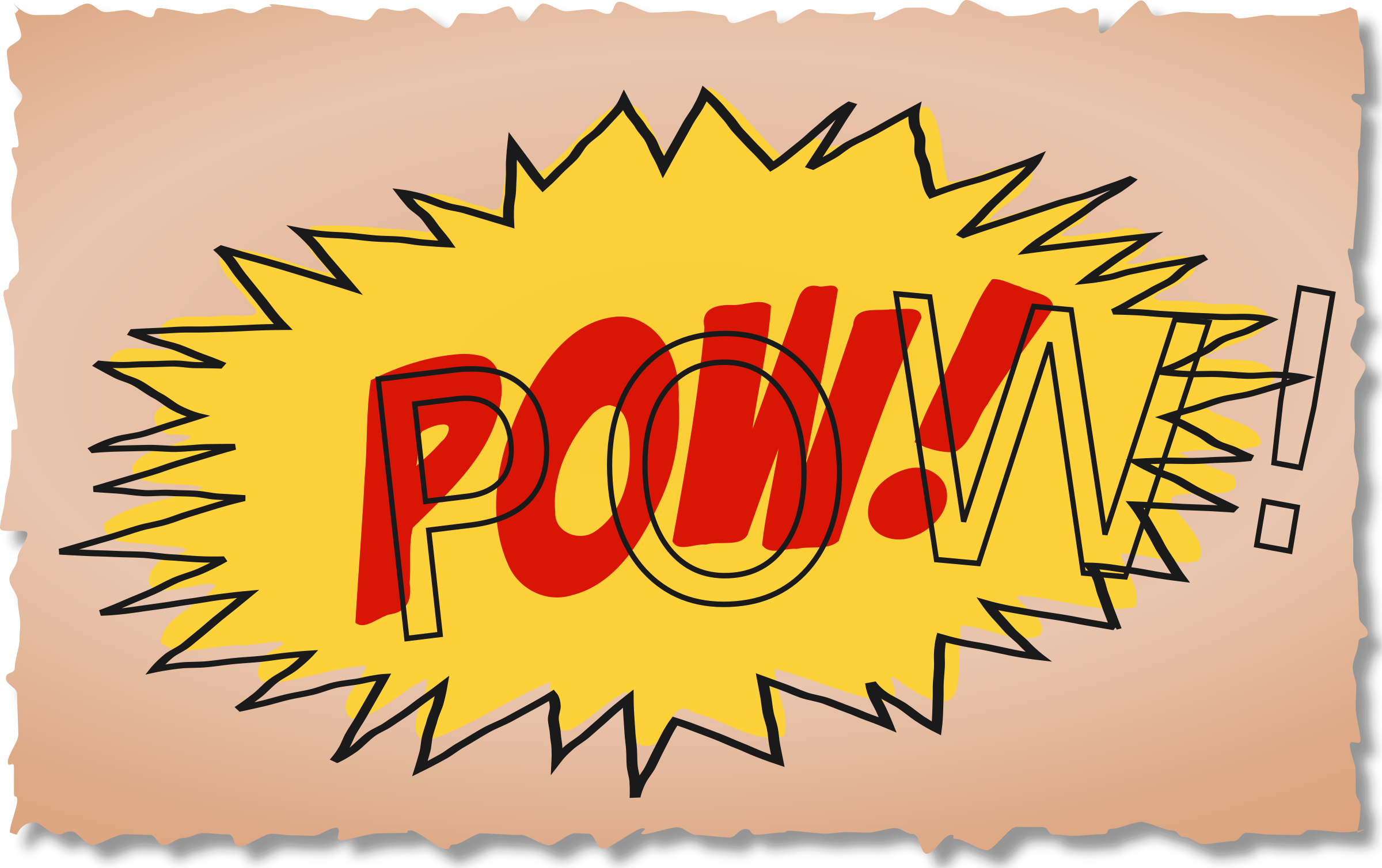 Wow clipart pow. Comic book sound effect