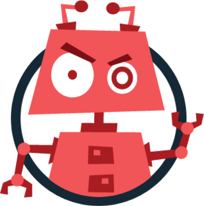 Bot circled transparent png. Wow clipart red