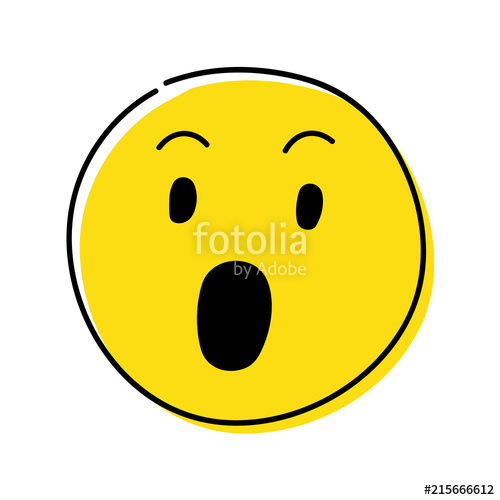 Wow clipart surprised expression. Social media icon emoji