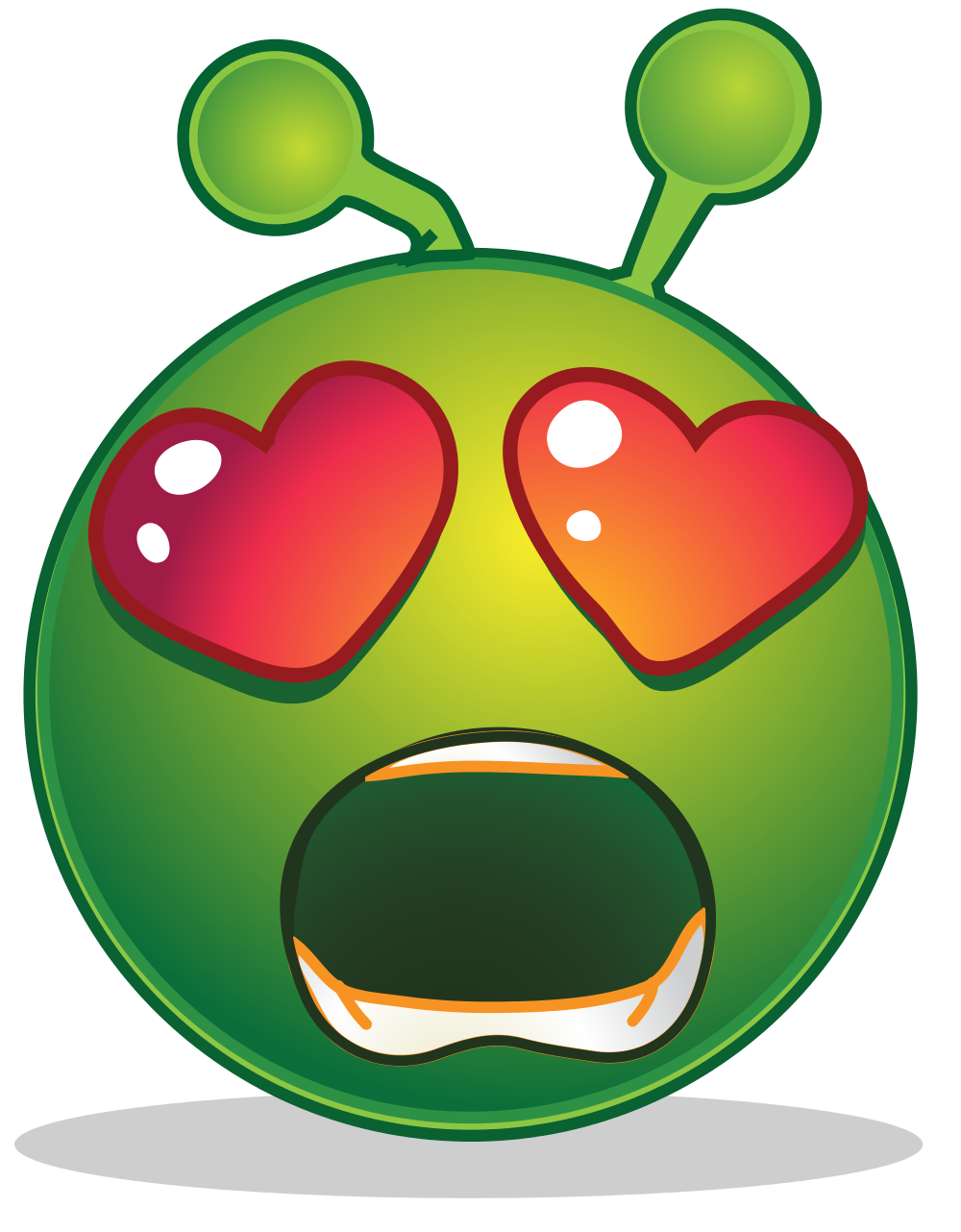 Wow clipart surprised expression. File smiley green alien