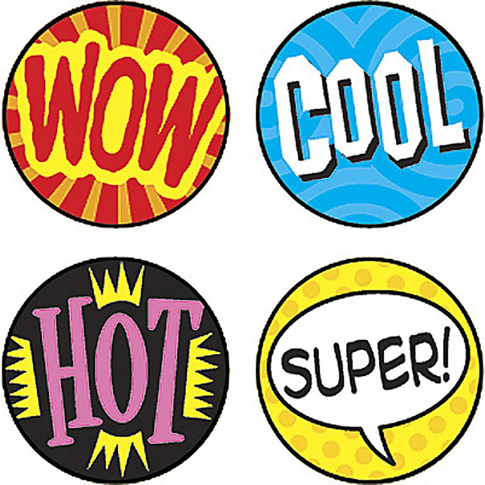 Wow clipart word encouragement. Stickers