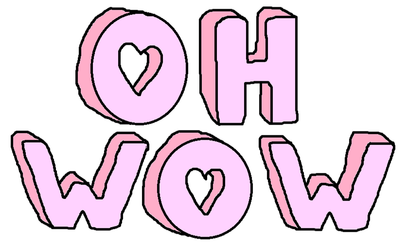 Wow clipart wow word. Image about pink in