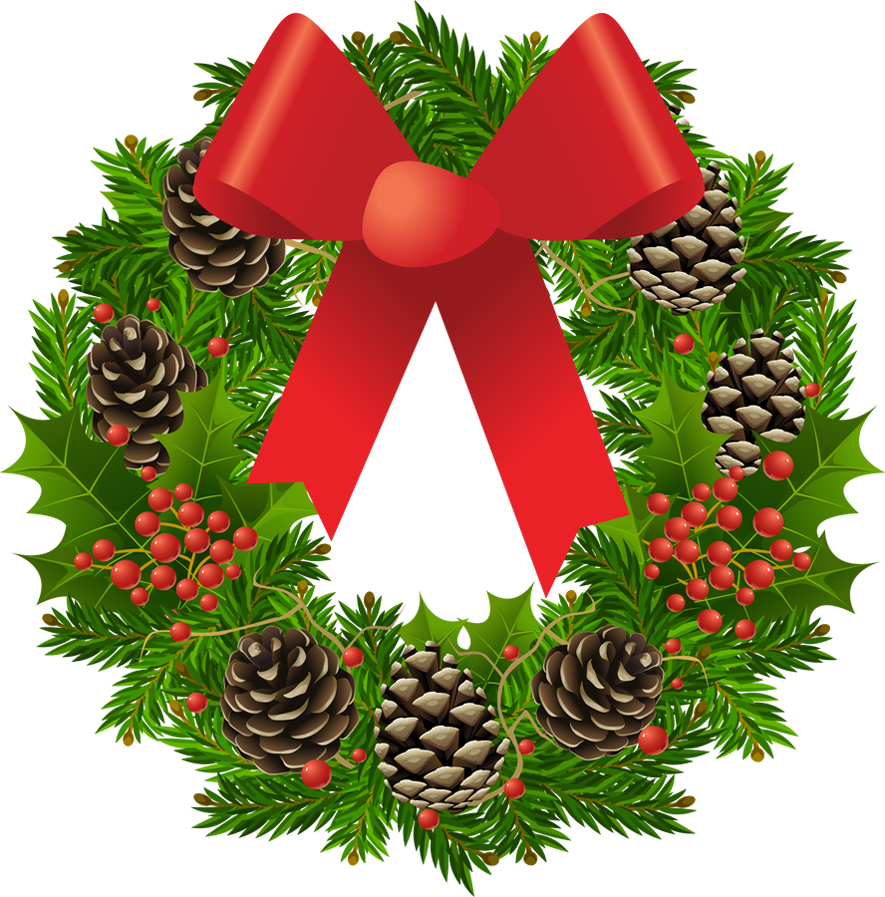 Christmas wreath picture gallery. Holiday clipart transparent background