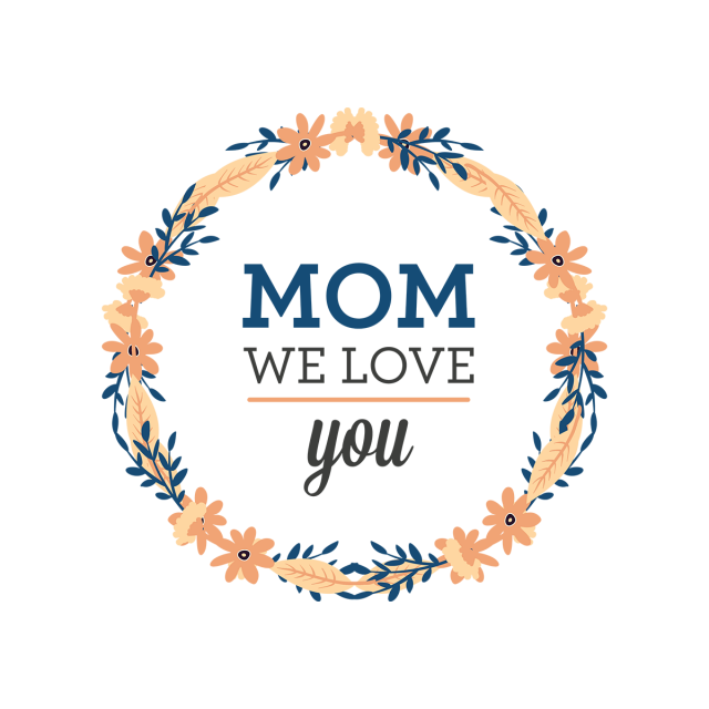Pretty floral mother s. Wreath vector png
