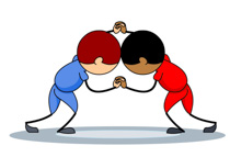 Wrestlers clipart. Sports free wrestling to