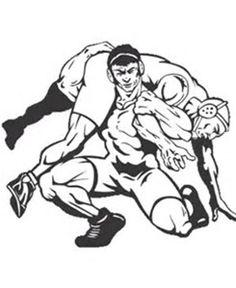 Wrestling clip art pinterest. Wrestlers clipart