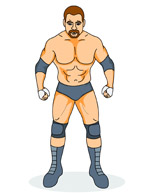 Search results for clip. Wrestler clipart