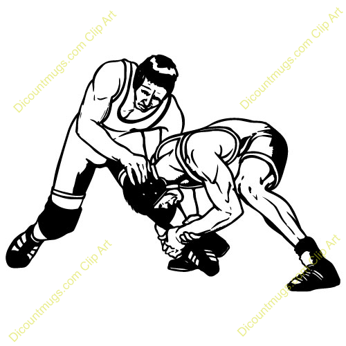 Wrestlers clipart. High school