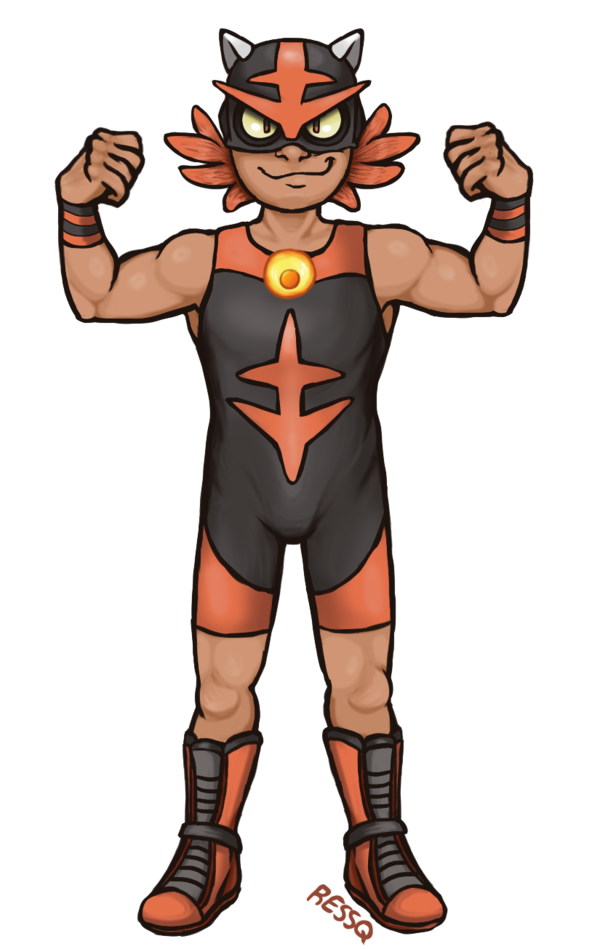 Wrestlers clipart boys wrestling. Torracat gijinka by ressq