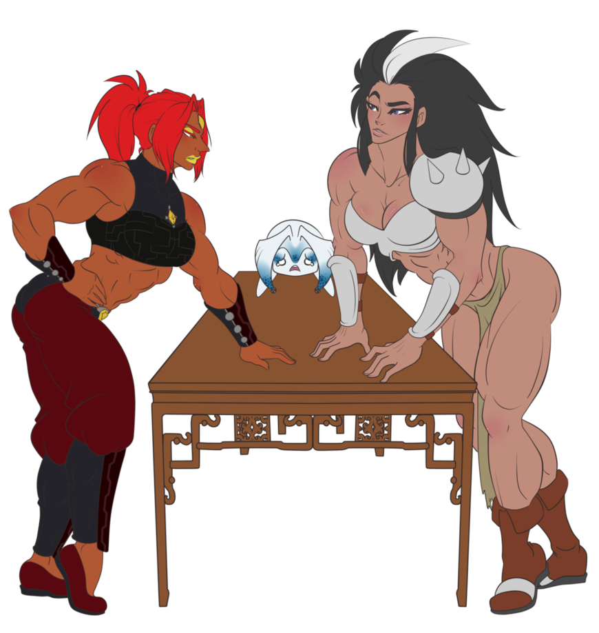 Wrestlers clipart combat. Muscle wife vs by