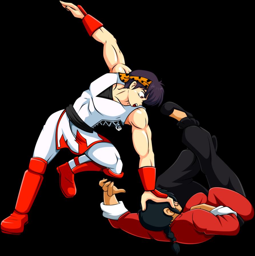 Commission j ryoga vs. Wrestlers clipart combat