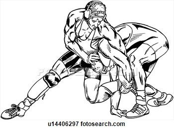 Wrestlers clipart drawing. Wrestling clip art free