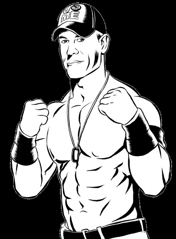 John cena at getdrawings. Wrestlers clipart easy drawing