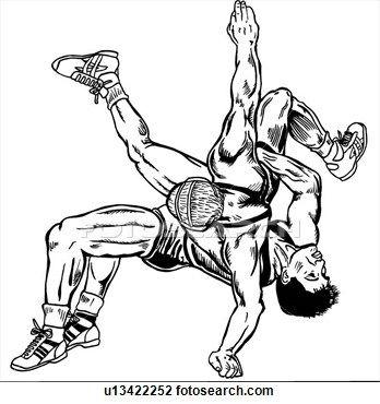 Wrestlers clipart easy drawing. Wrestle wrestler wrestling sport