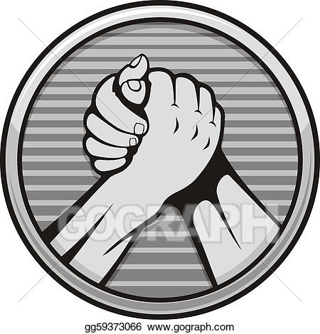 Vector stock arm wrestling. Wrestlers clipart hand to hand