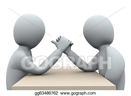 Wrestlers clipart hand to hand. D people wrestling stock