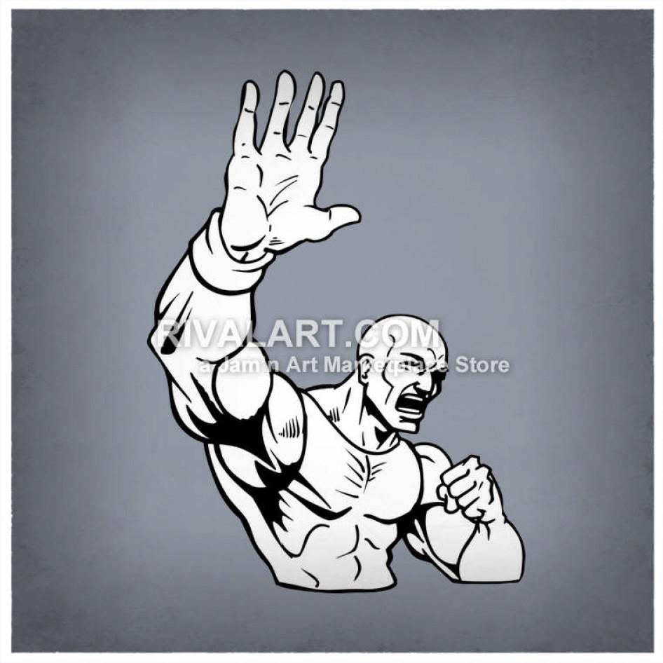 Wrestlers clipart hand to hand. Wrestler wrestling man holding