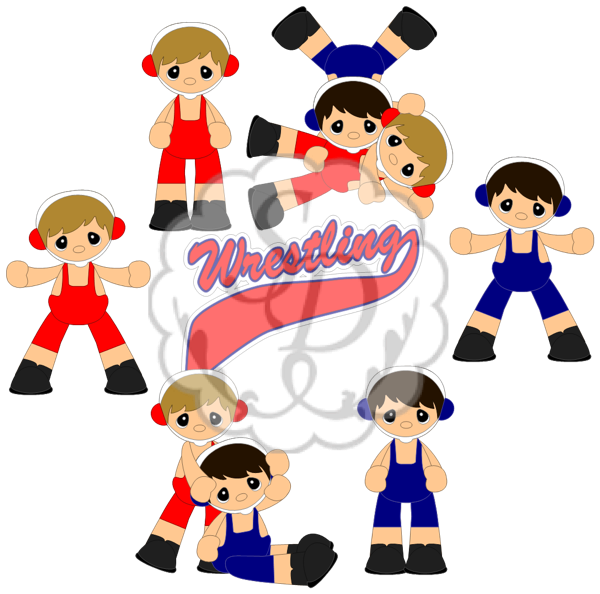 Wrestlers clipart kid. Scrappydew sports and school