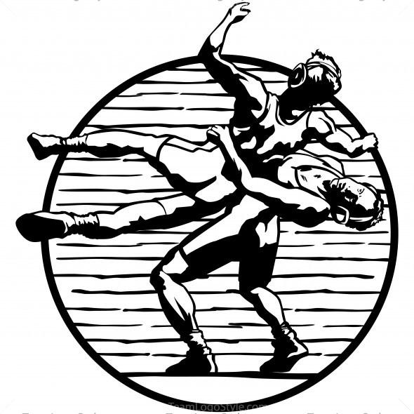 Wrestlers clipart logo. Wrestling images archives team