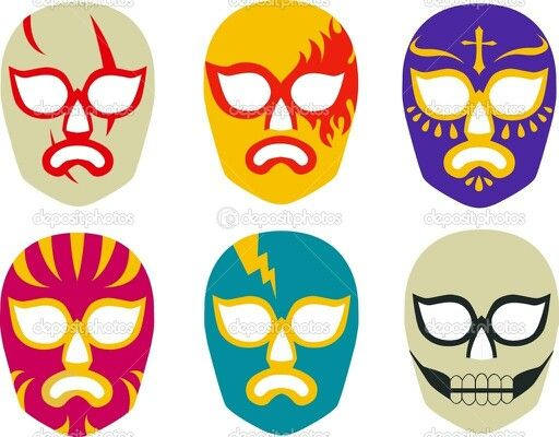 Wrestlers clipart luchadores. Pin on luchador mask
