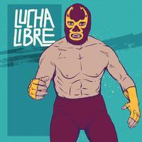 Luchador free vector art. Wrestlers clipart luchadores